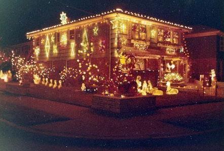 howard beach house christmas lights 1960s 70s